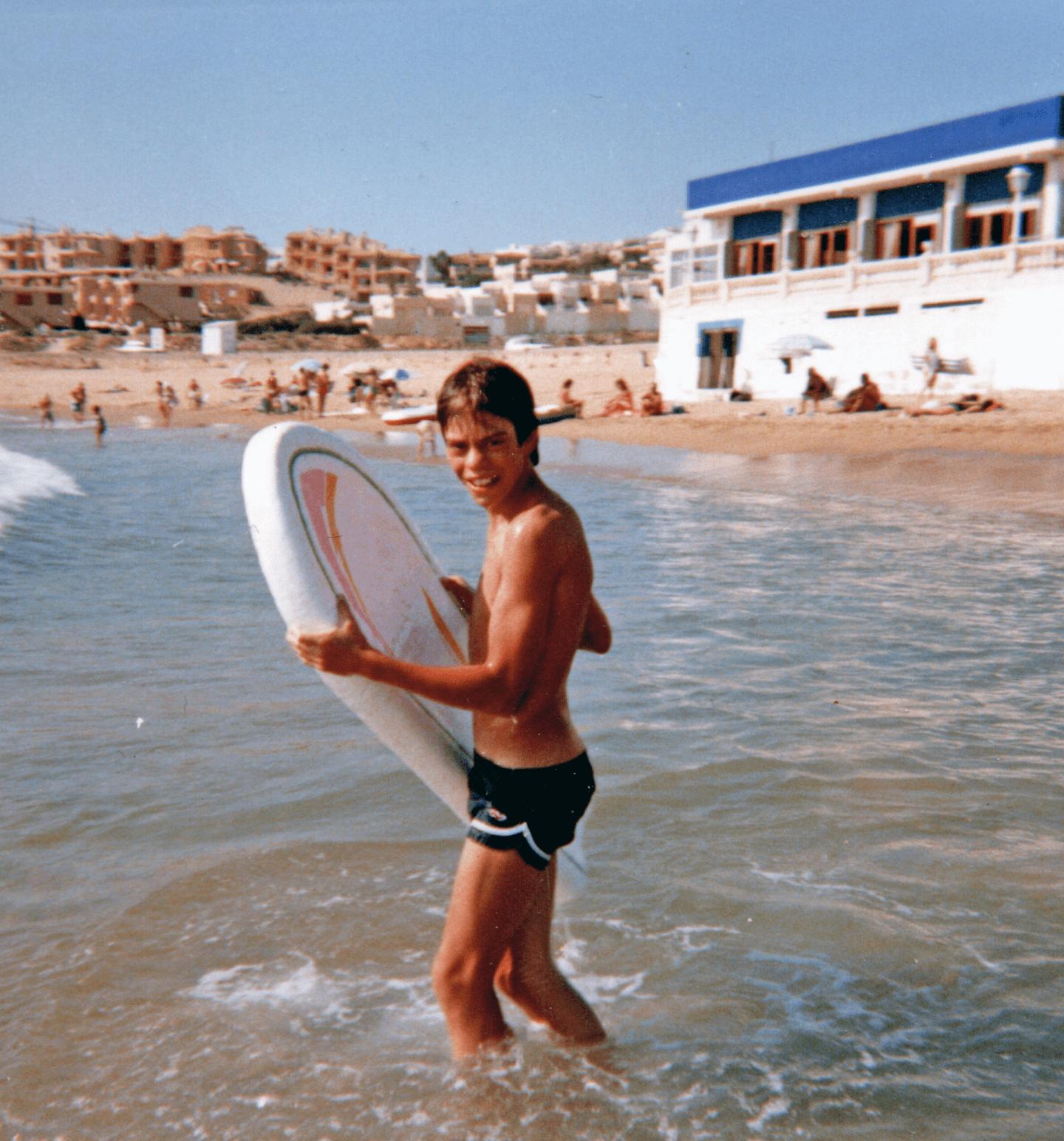 Spain, bodyboarding, family holiday