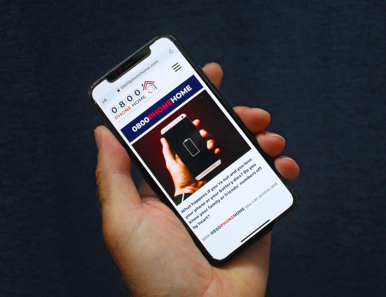 0800PhoneHome home screen