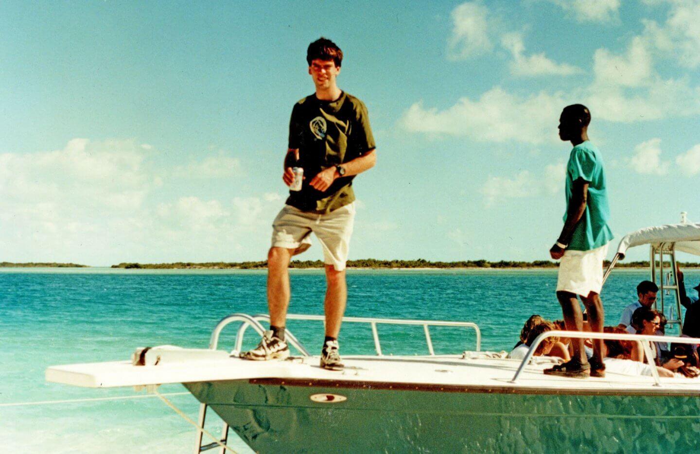 John Adams visits Turks and Caicos Islands