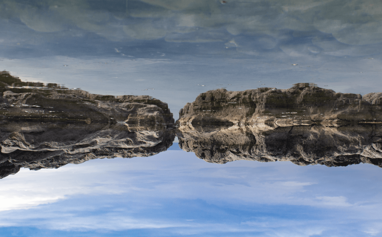 rock pool upside down
