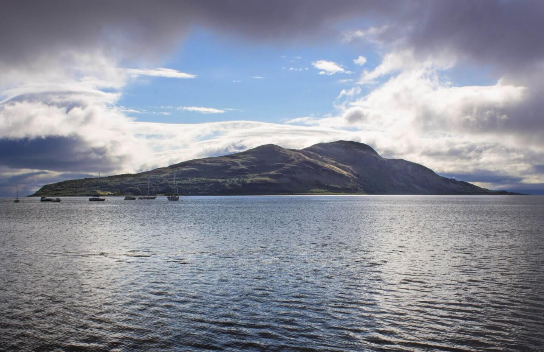 Holy Isle near the Isle of Arran