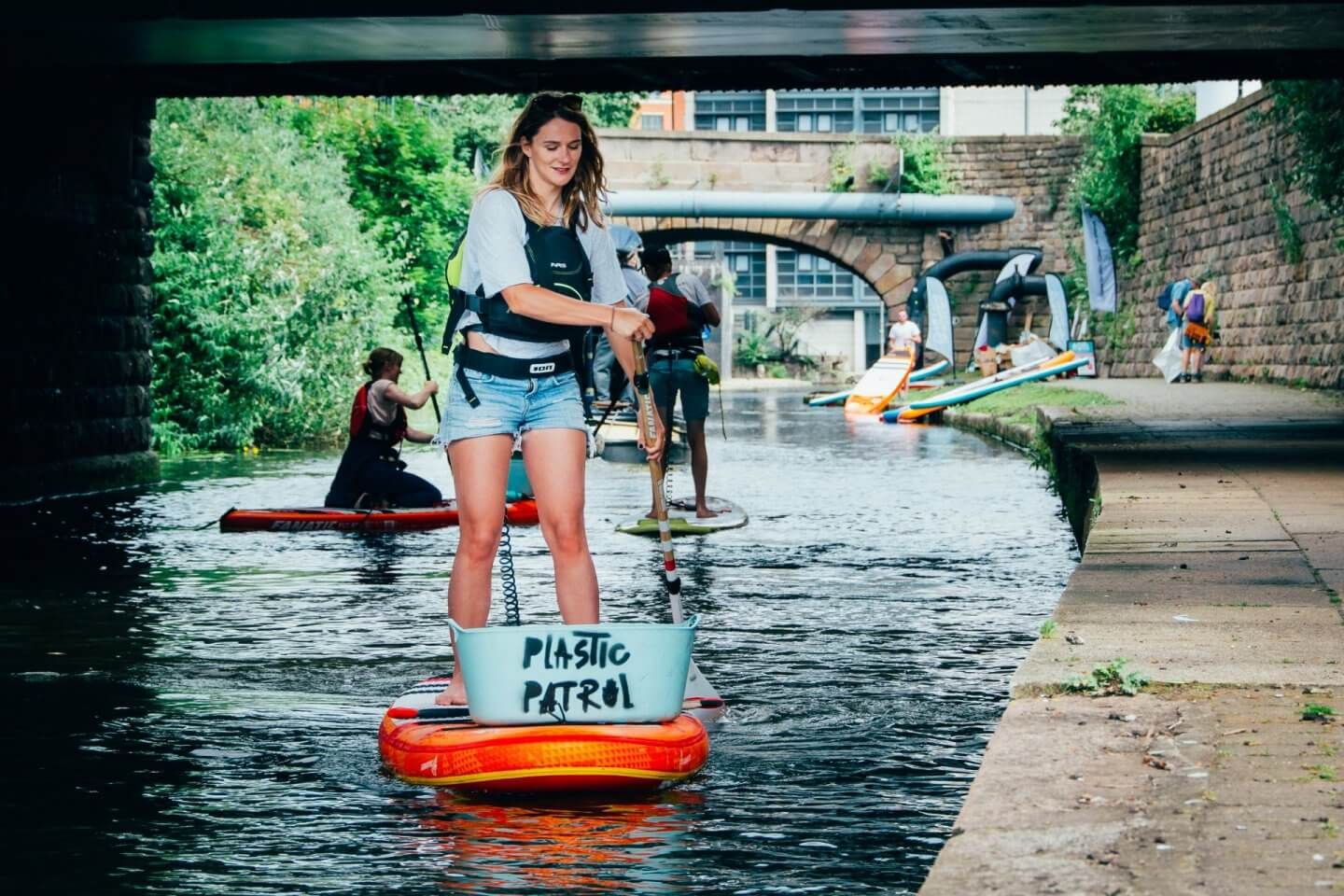 Plastic Patrol founder Lizzie Carr on a SUP