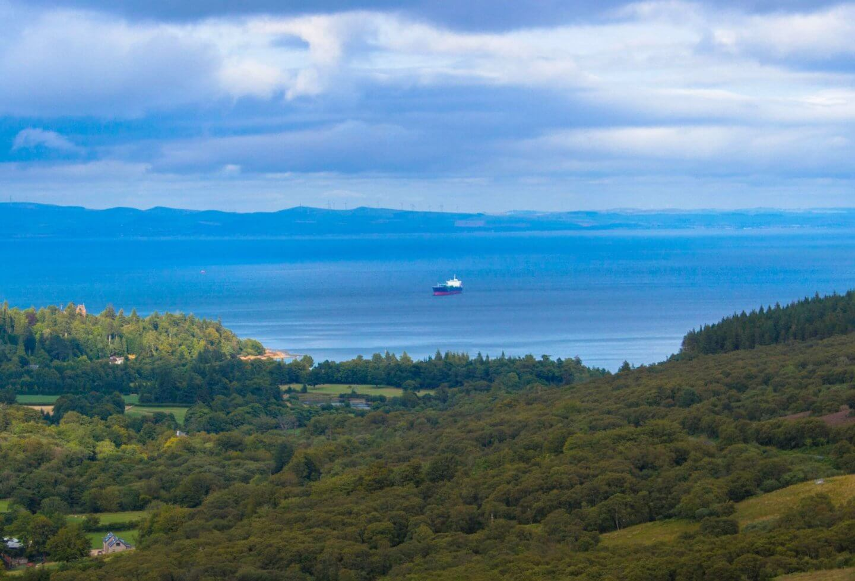 Isle of Arran, Scottish landscape, ship