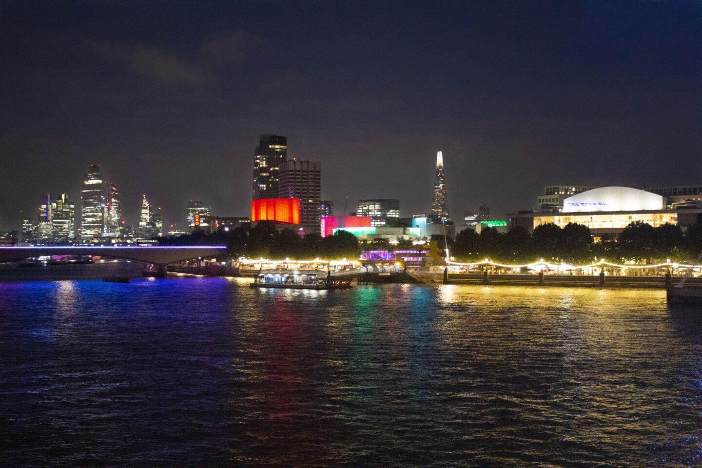 night-time london